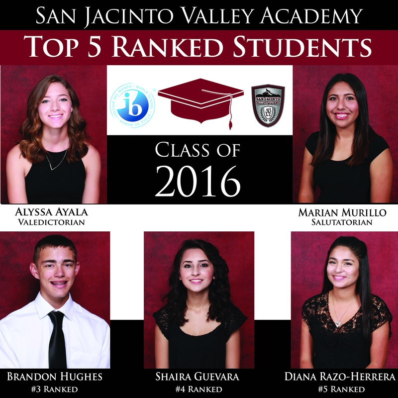 Class of 2016 Top 5 Announced
