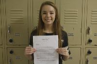 Student receives letter from Ex-Supreme Court Justice.