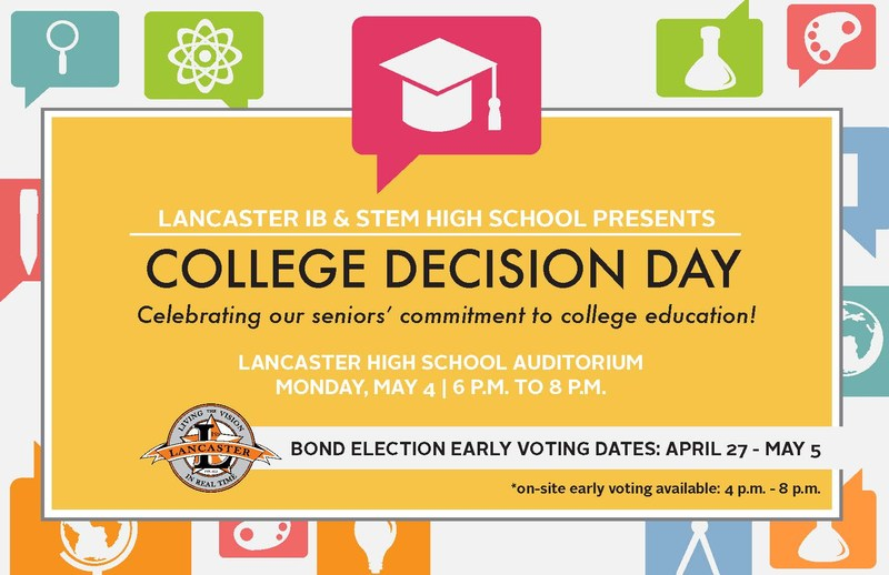 LANCASTER HIGH SCHOOL AND ADVISE-TX HOSTS COLLEGE DECISION DAY