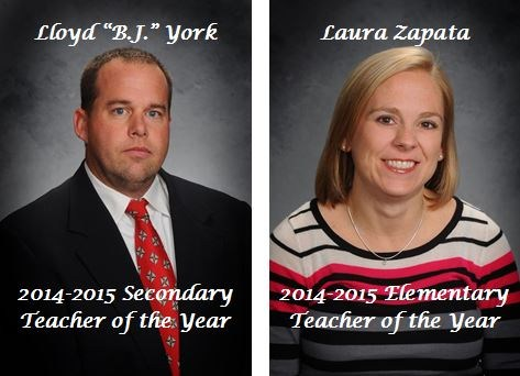 Zapata, York Named WISD Teachers of the Year