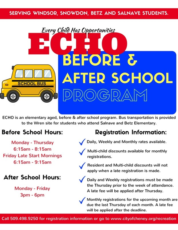 Cheney Parks and Recreation- ECHO Program Thumbnail Image