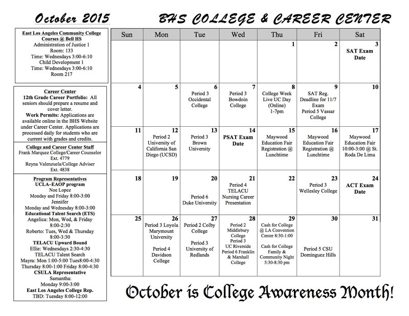 October is College Awareness Month!
