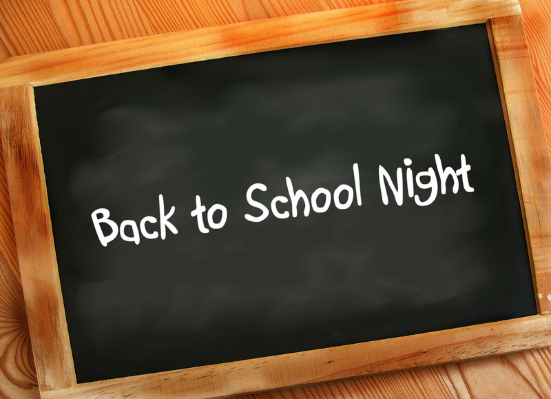 Back to School Night is Wednesday, August 31st Thumbnail Image