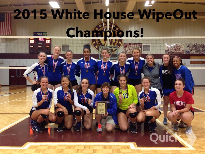 Congratulations to the BHS Volleyball Team for winning the 2015 White House Wipeout tournament this weekend!