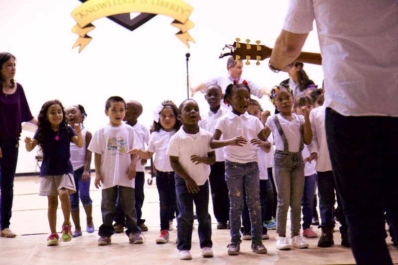 Oak Cliff Campus PK Students Perform for PTSO Meeting