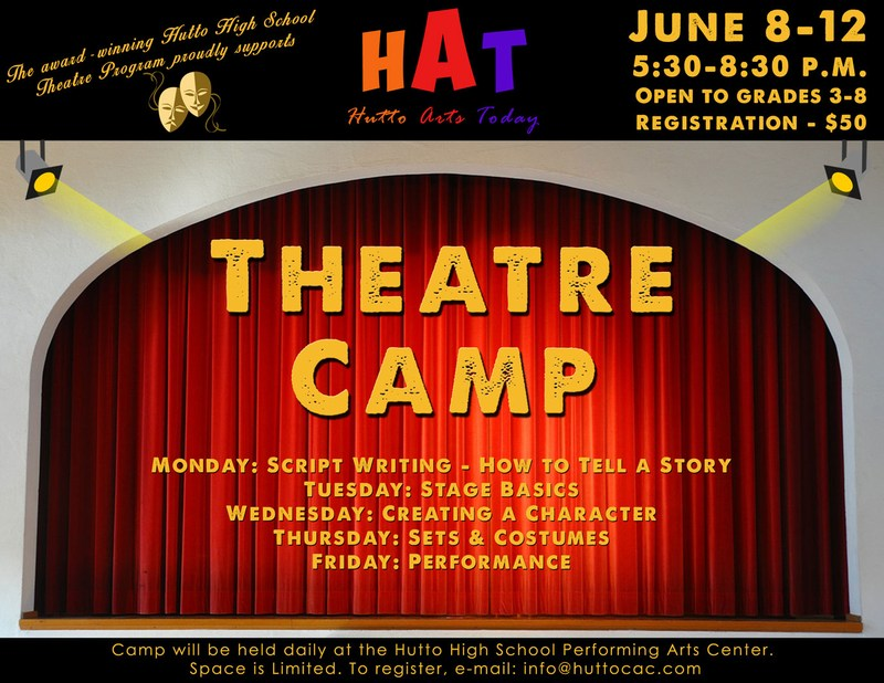 The award winning Hutto Theatre Department invites you to be part of our Theatre world!