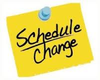 Schedule Changes