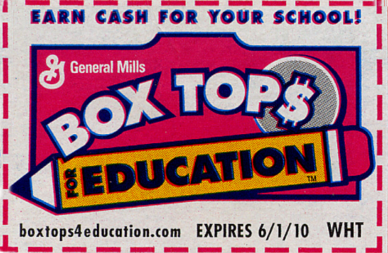 Box Tops for Education and Community Coffee UPCs