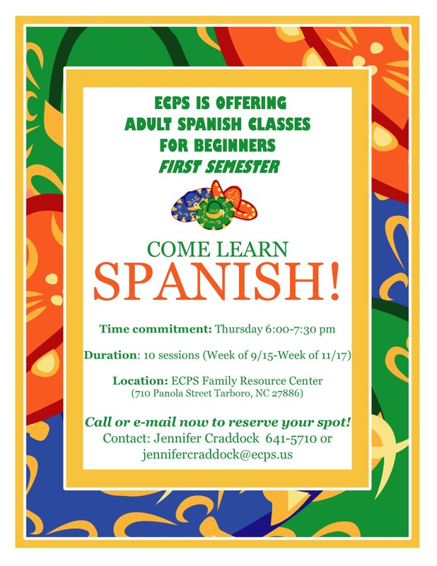 Adult Spanish Classes Offered Thumbnail Image