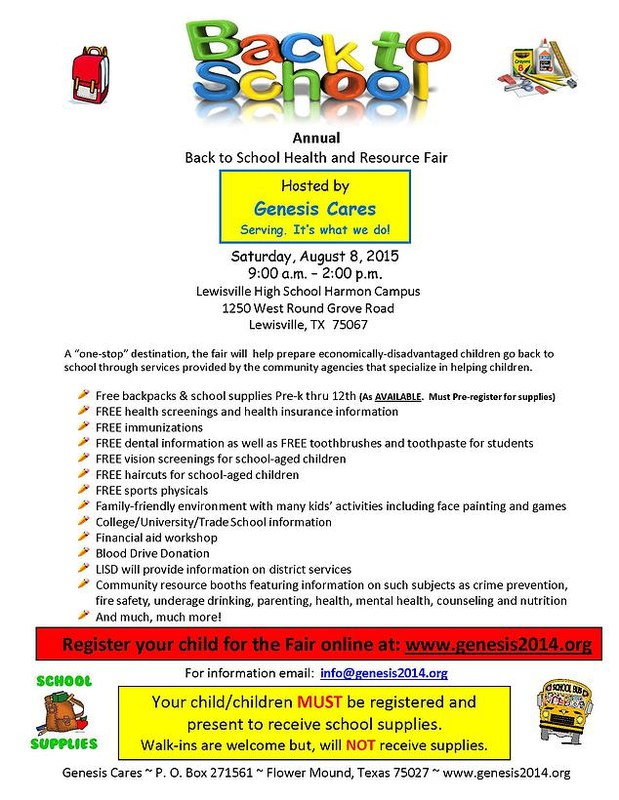 Back to School Health & Resource Fair