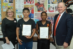 Students Recognized at October School Board Meeting