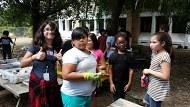 Science Students Prep for a Fall Garden