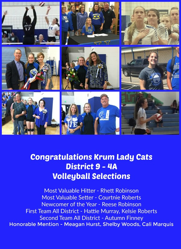 Krum Lady Cats Recognized with All-District Honors Thumbnail Image