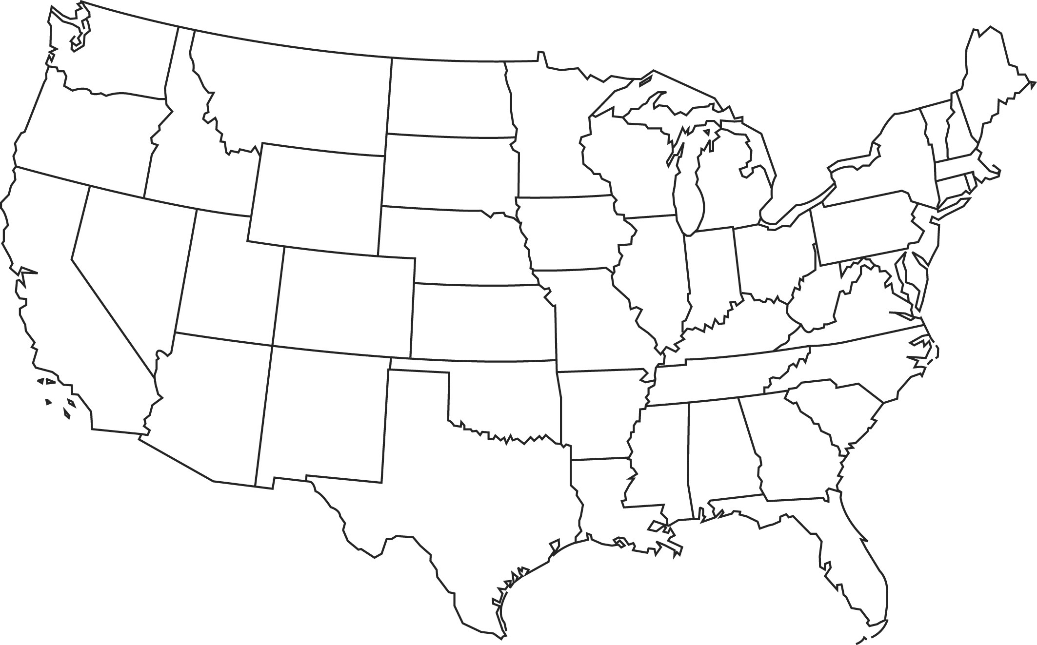 Geography Blog Outline Maps United States - United states outline map free printable