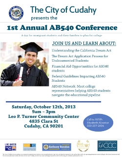 1st Annual AB540 Conference for Students with Undocumented Status