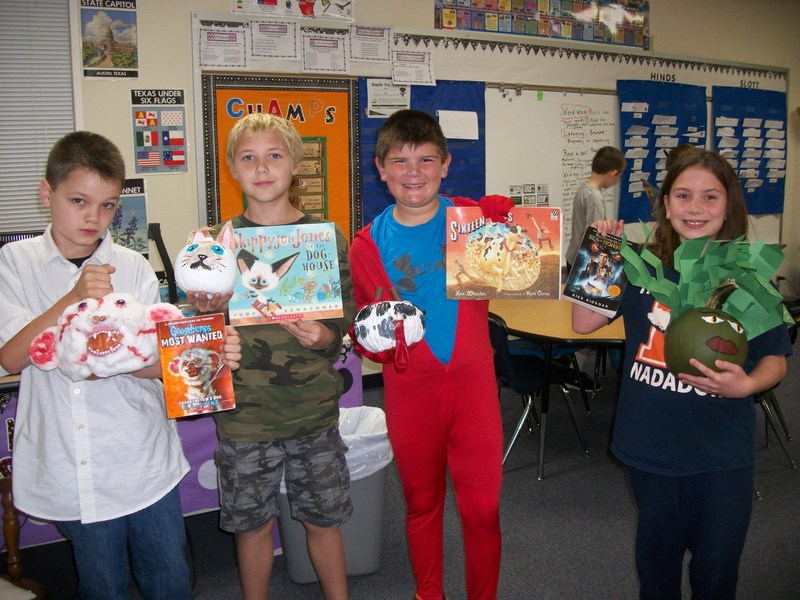 Red Ribbon Week, Book Characters, and Pumpkin Book Reports