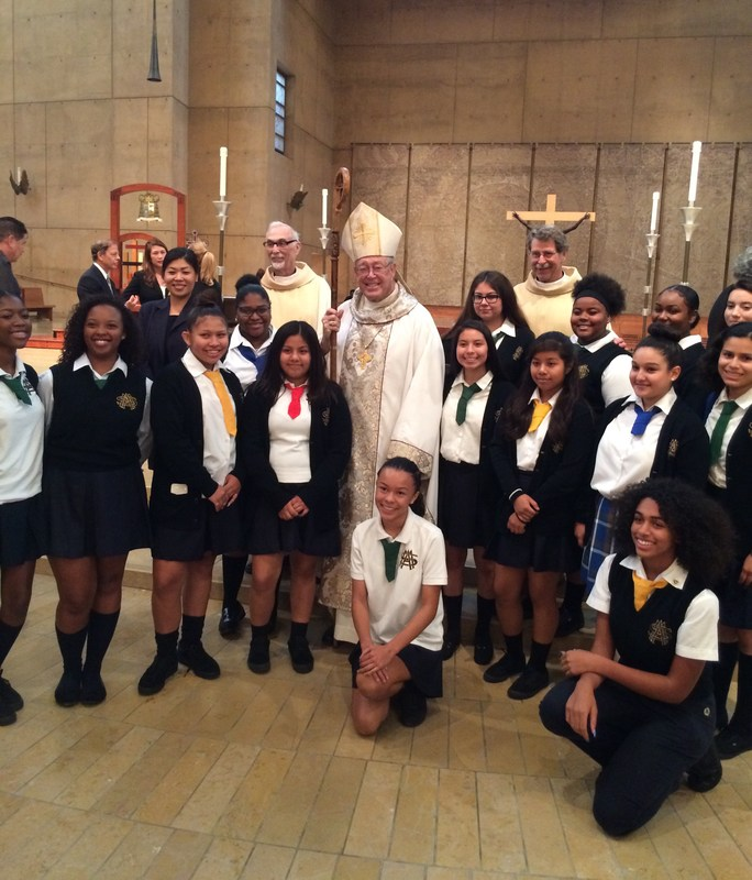 Health Career Program students attend White Mass at the Cathedral.