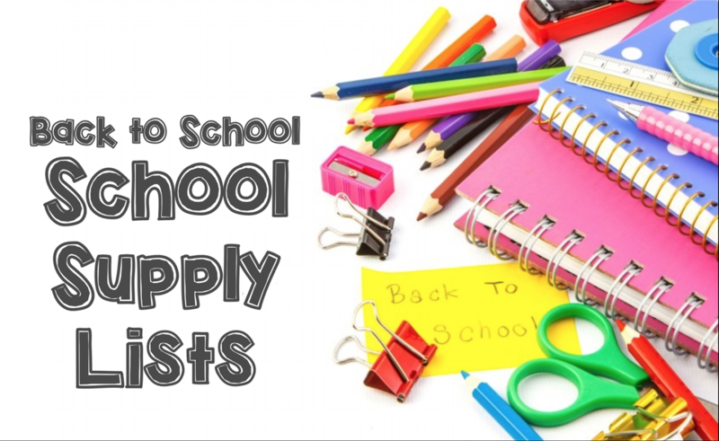 Elementary School Supply Lists Thumbnail Image