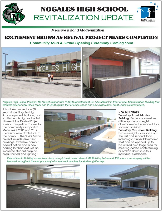 Nogales High School Revitalization Update