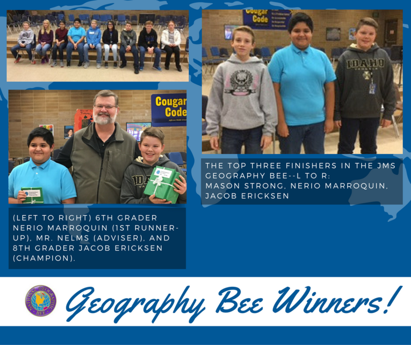 Geography Bee Held!  JMS Winners Announced!! Thumbnail Image