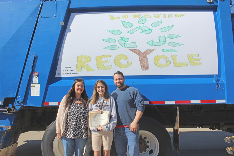 Student's artwork to adorn city recycling truck