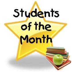 Students of the month of September 2015 Activity