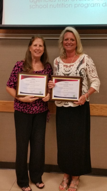 Cafeteria employees Debra Wolters and Shirlene James graduated from the 2015 Region XIII Managers Academy on July 23. They were among 30 other graduates from the Region XIII area.