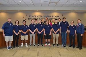 Yorba Linda High School football team honored by Board