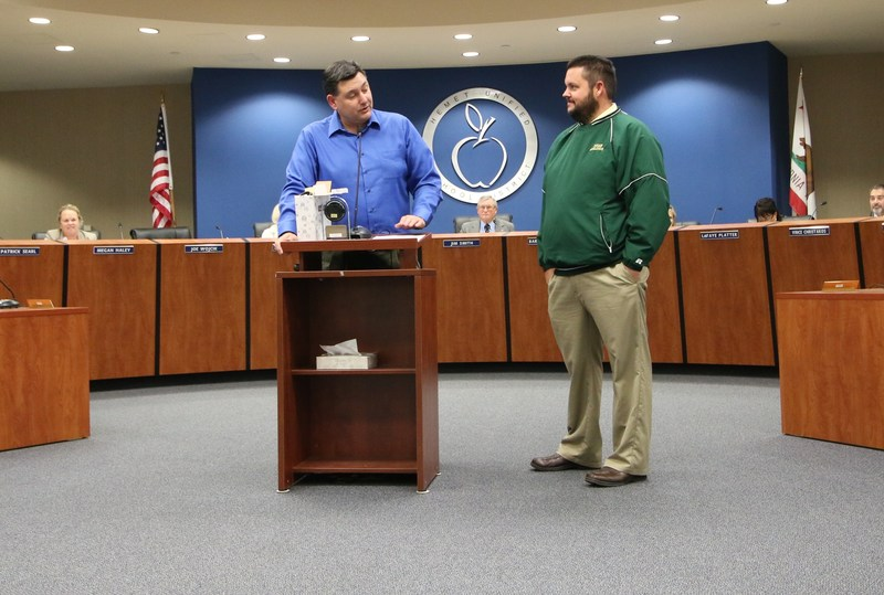 HUSD Governing Board Recognizes Tahquitz High School Principal