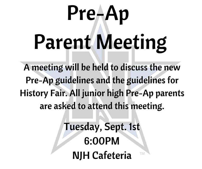 Pre-Ap Parent Meeting