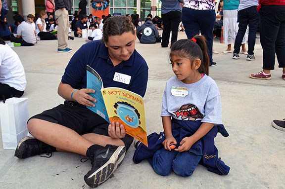 Three schools participate in nationwide Read for the Record literacy event