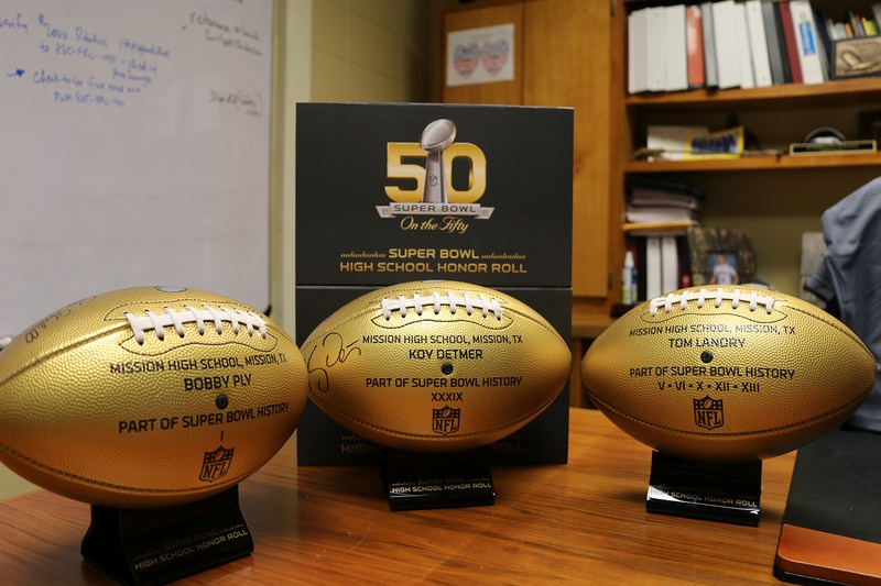 MHS recognized by NFL for contributing to Super Bowl history three times