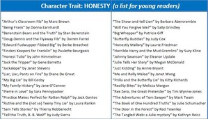 Honesty - February's PACE character trait recommended reading list for young readers