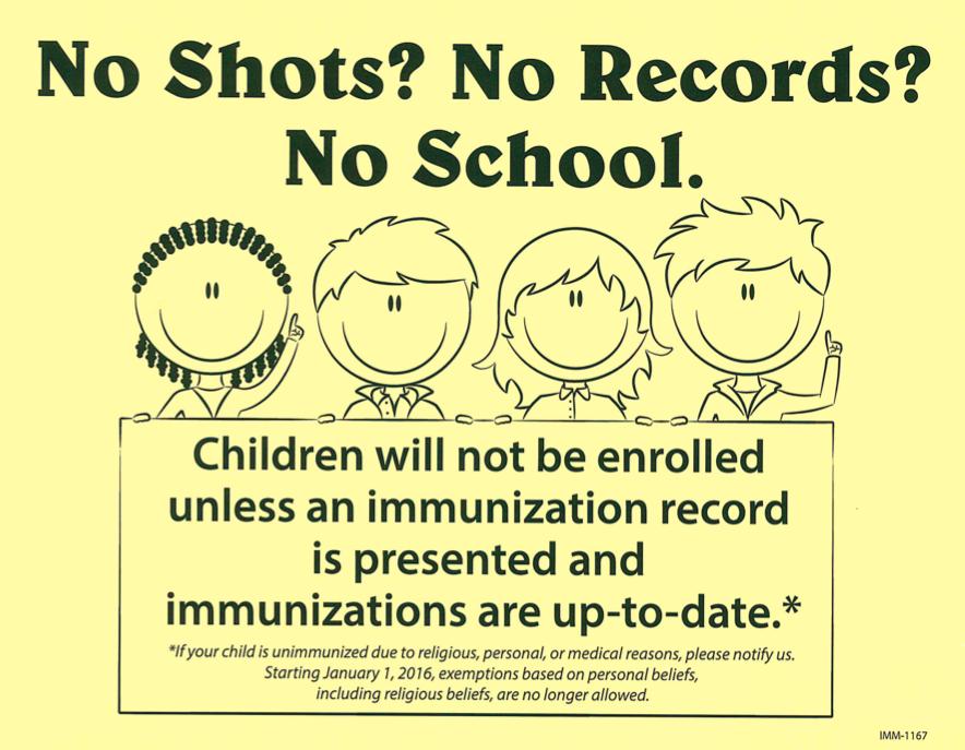 No Shots? No School