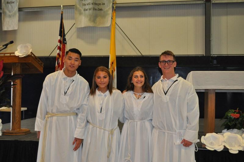 4 Students Baptized at School Mass