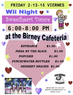 Wii Dance Night Friday, Feb. 13th