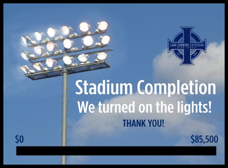 Let's celebrate! The lights will go on this fall for LCL's first night football game!