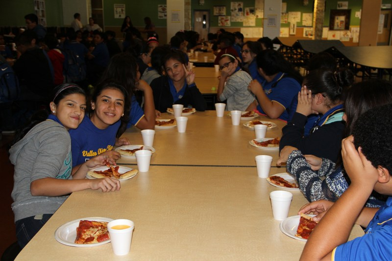 """Pizza Party for the """"A"""" and """"B"""" Honor Roll/1st six weeks."""