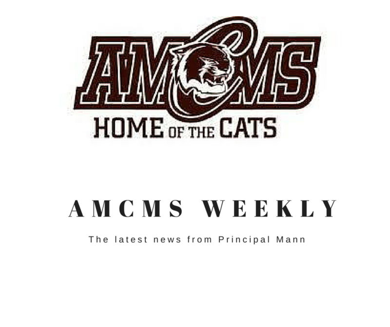 AMCMS Weekly Posted-- Get the latest AMCMS News from the Principal