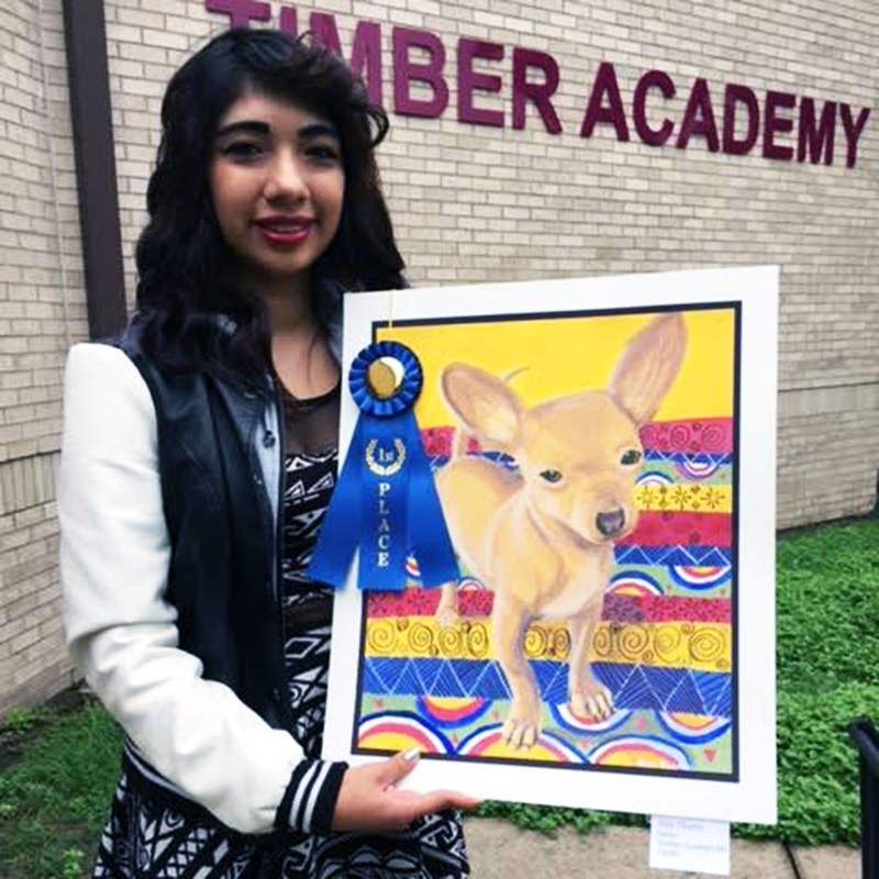 Timber student wins TAMU Vet School art contest