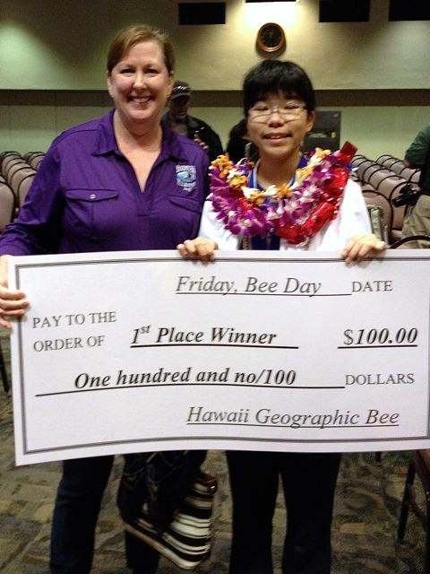 CONGRATULATIONS MIKA, Hawaii's 2015 Geographic Bee Winner!