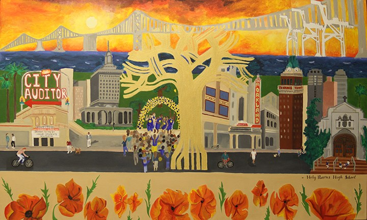 Art students create mural for Oakland CIty Hall Thumbnail Image