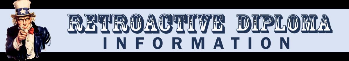Retroactive Diploma Information Logo.