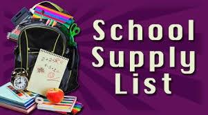 2015-2016 Supply List