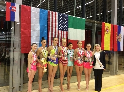 CYC Level 10 Rhythmic Gymnasts at Luxembourg International Cup 2015