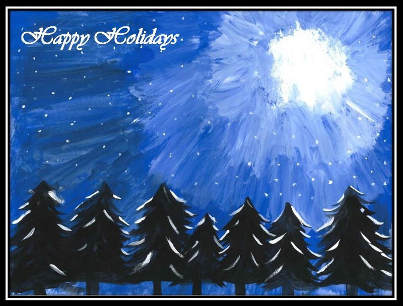 Congratulations to budding artist Jera Hudson for having her drawing selected as the image for the district's Christmas Card this year.
