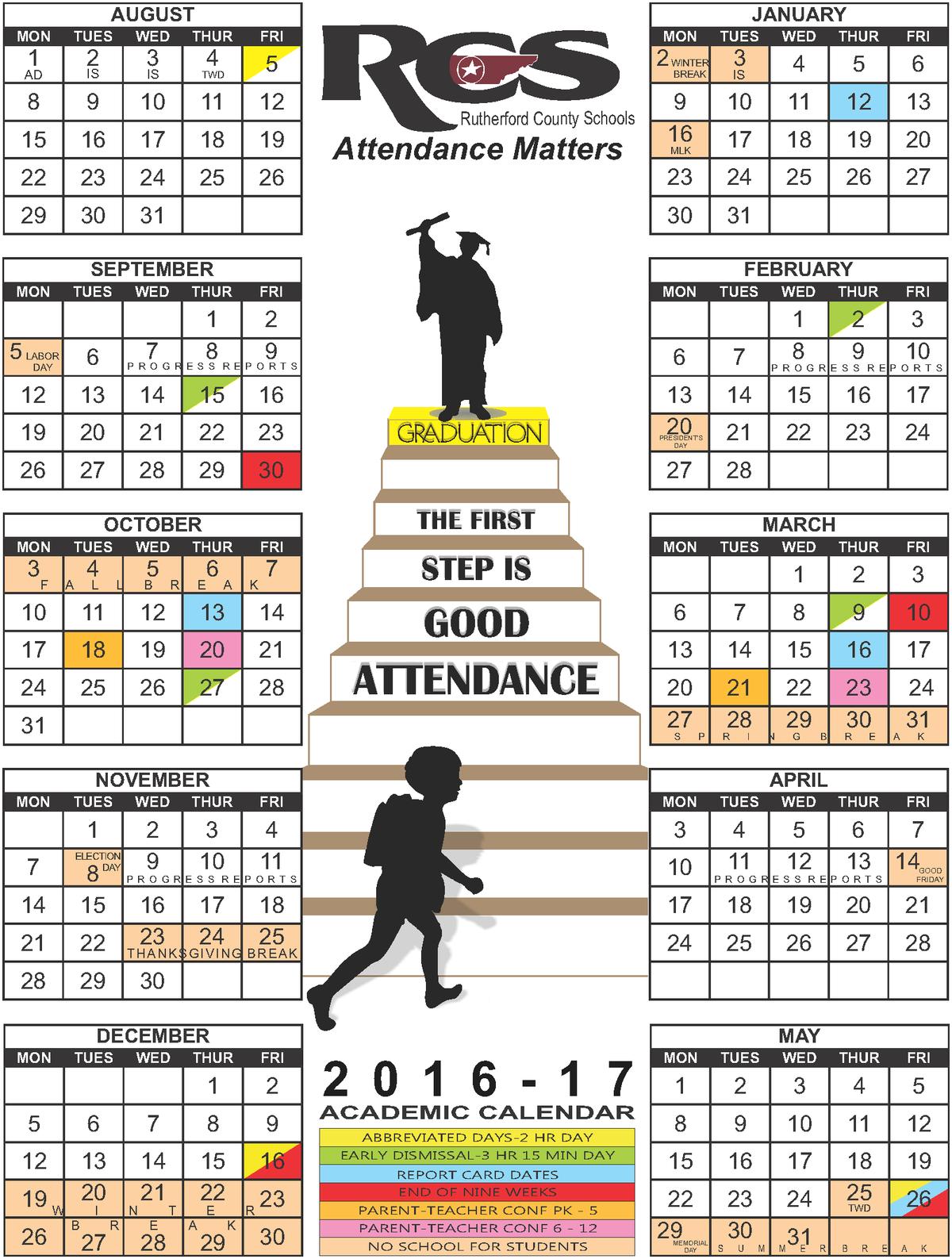 2016-2017 School District Calendar
