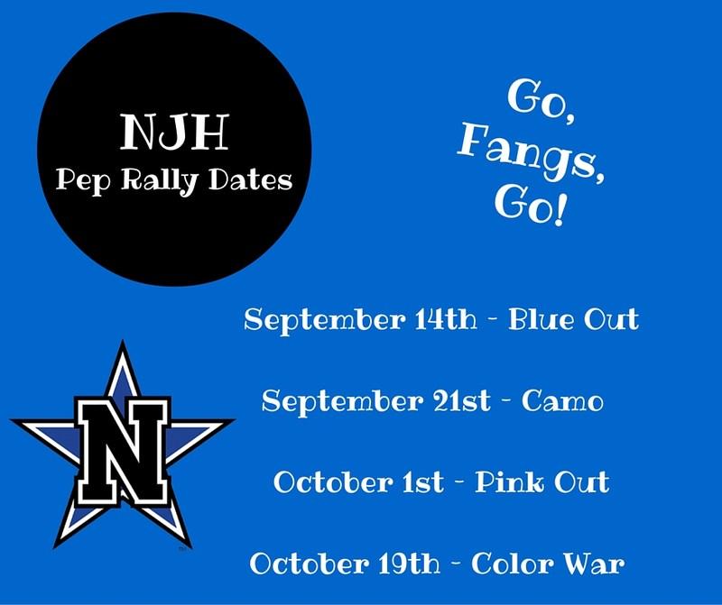 NJH Pep Rally Dates