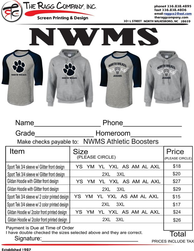 North Wilkes Middle T-Shirts Thumbnail Image