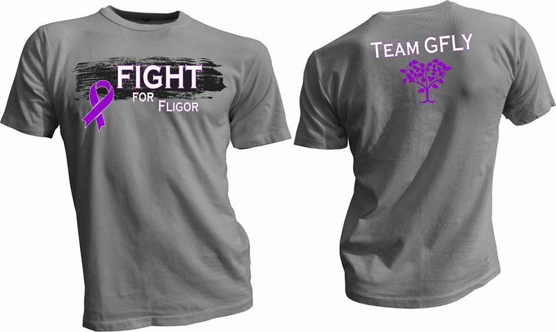 """Updated info on """"Fight for Fligor"""" t-shirts:"""